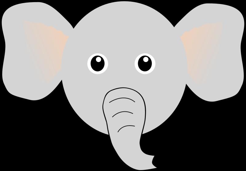 elephant face drawing - photo #22