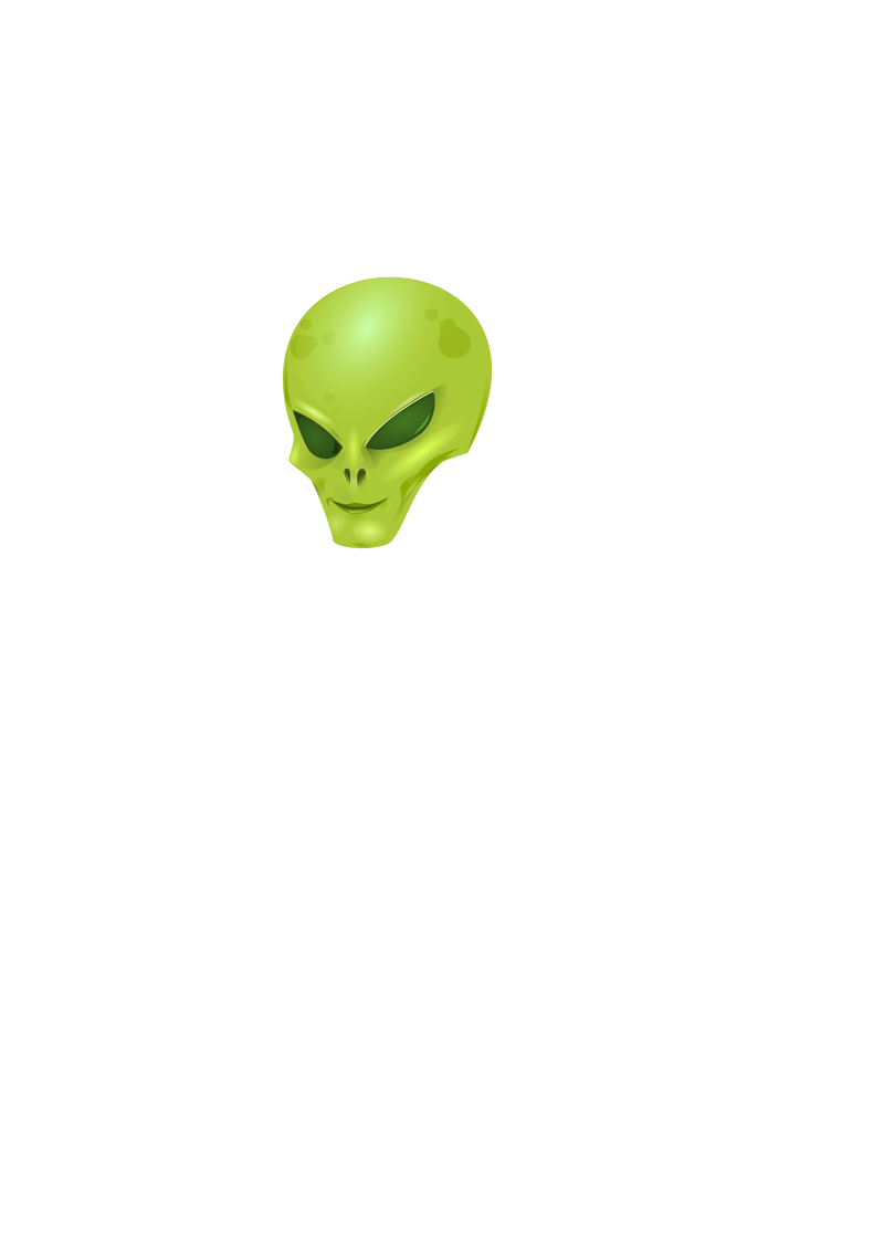 Alien Head by wildchief - a cliched alien. I will add one with a body when time allows
