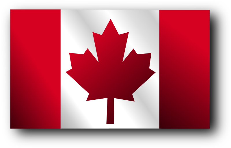 Canadian Flag 2 by Merlin2525 - Canadian Flag waving but with a rectangle shape instead of curves. Drawn with Inkscape.
