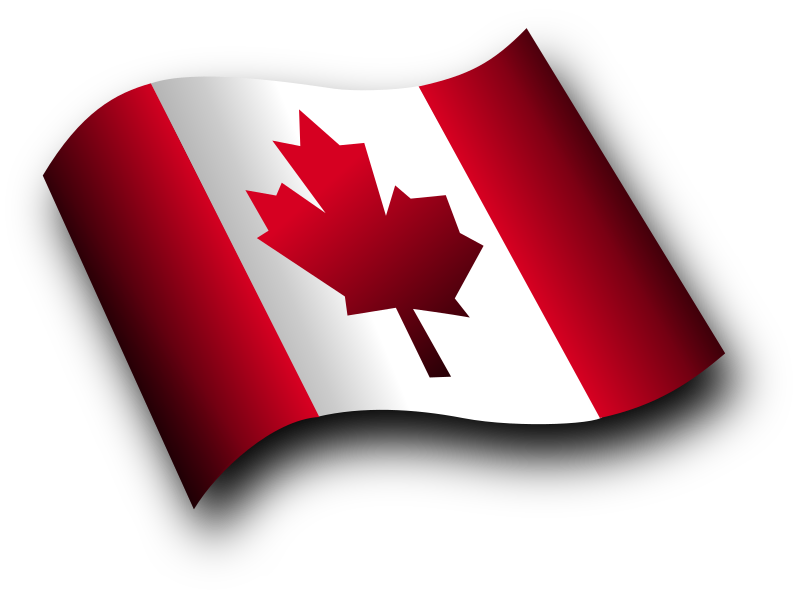 Canadian Flag 3 by Merlin2525 - A waving Canadian Flag with more curvature to give it a more 3d effect. Drawn with Inkscape.