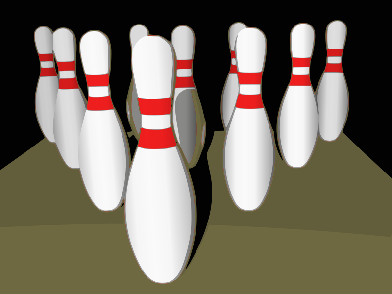 Bowling pins, shaded by eady