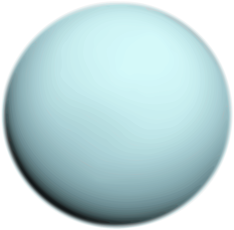 Uranus by Merlin2525 - Planet Uranus Bitmap Trace. The Gimp was used to scale, reduce colours and clean up image. The original public domain image can be found at http://upload.wikimedia.org/wikipedia/commons/3/3d/Uranus2.jpg
