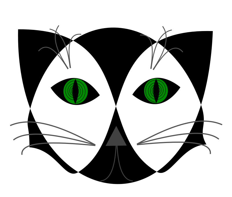 Hypno Cat by cgillis73 - Black and white cat with hypnotizing green eyes.