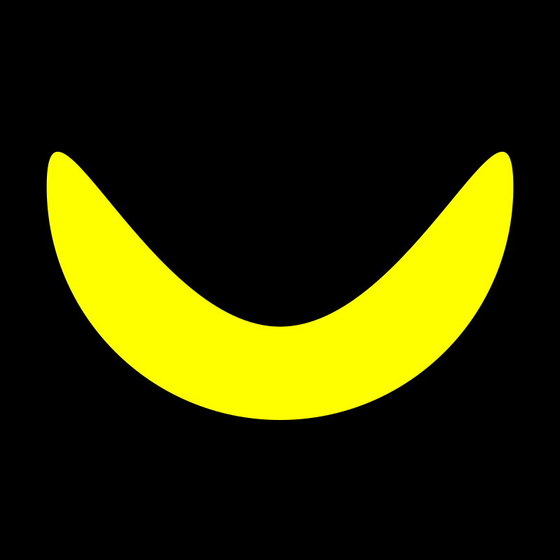 banana by 10binary - I was messing around with the nodes of a circle and got a banana!