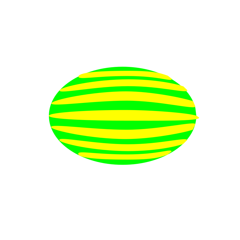 watermelon by 10binary - This is supposed to look like a watermelon. It's a fine example of why I don't often draw anything besides regular polygons.