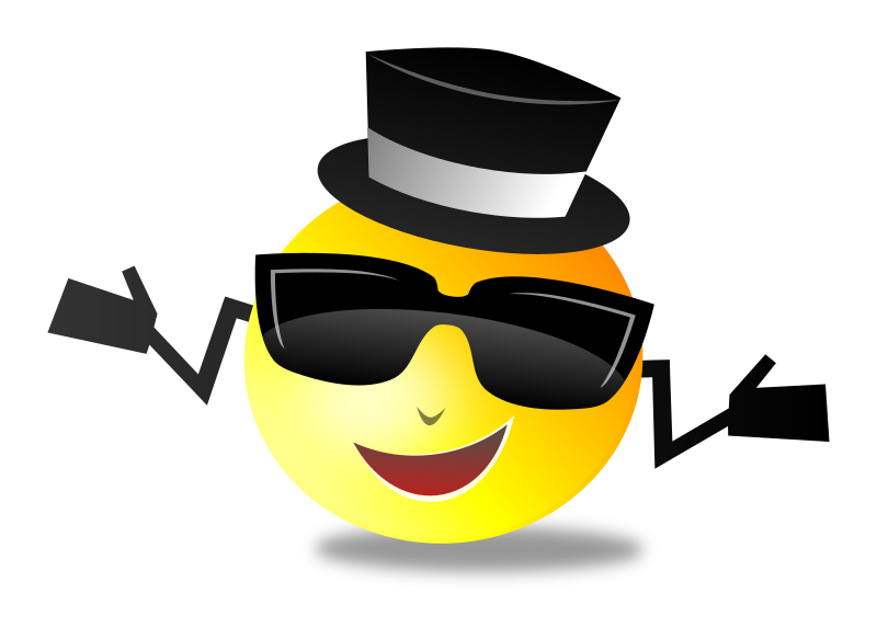 Clipart - Cool Dapper Shruggy Smiley