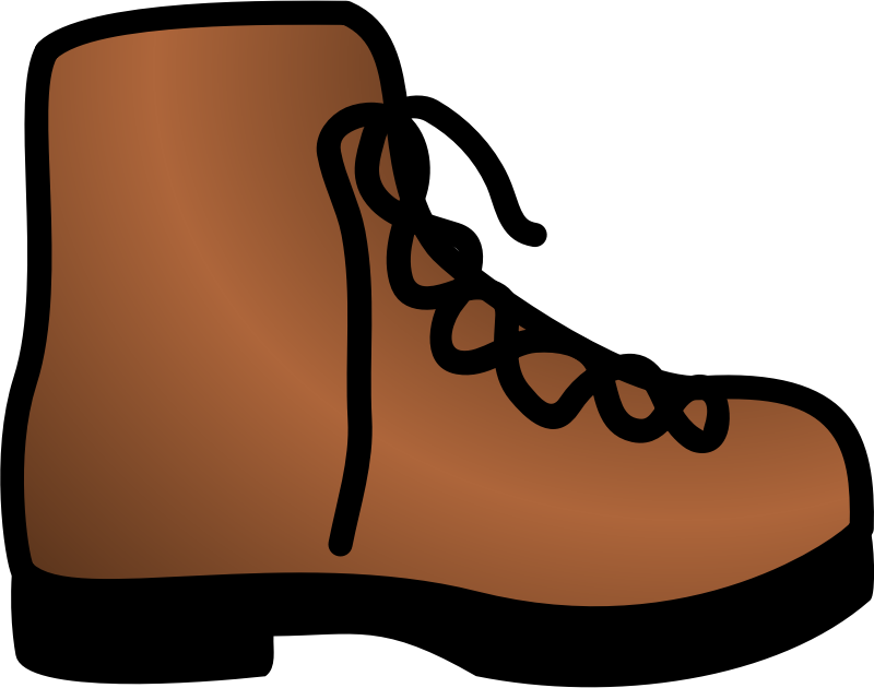 simple brown boot by pawnk - Coloured icon displaying a brown boot with shoelace. I tried to make it especially suited for very low resolutions.