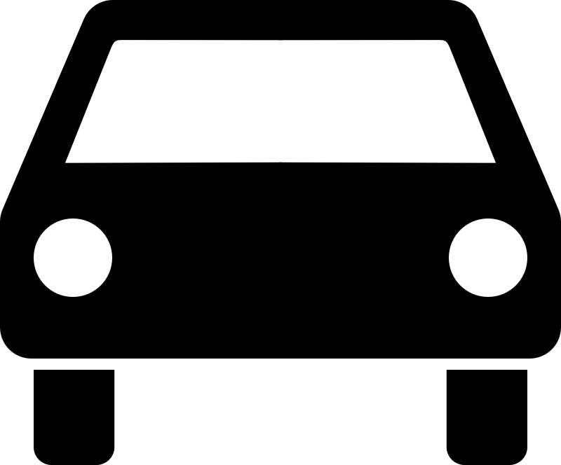 car pictogram by pawnk - pictogram of a car in front view