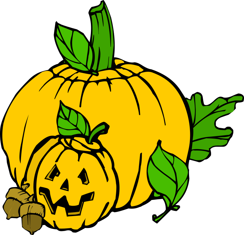Pumpkins (colour) by liftarn - Based on http://www.dafont.com/helloween-version2.font