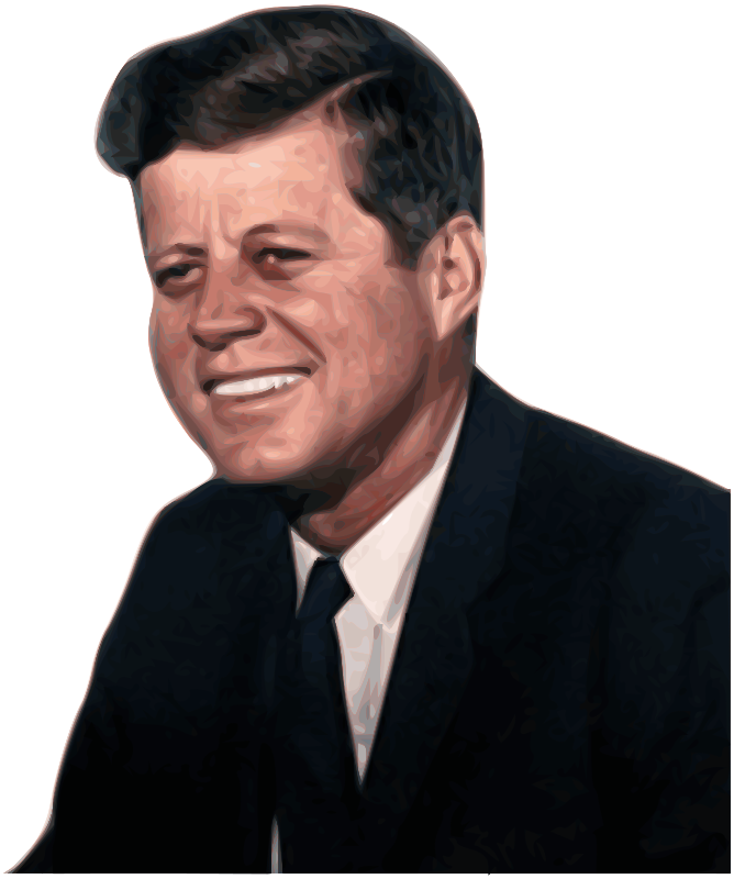 John Fitzgerald Kennedy 35th President of the United States by Merlin2525 - John F. Kennedy 35th President of the United States. Bitmap Trace of public domain image found at http://en.wikipedia.org/wiki/File:John_F._Kennedy,_White_House_color_photo_portrait.jpg