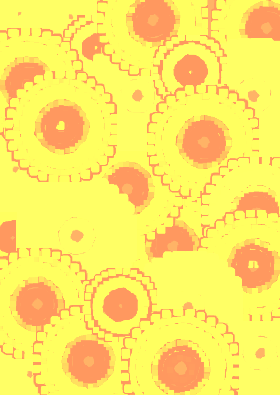 Yellow and Red Circle Pattern Scrapbook Paper by Lovinglf