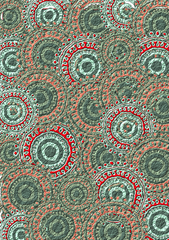 Seafoam Salmon Circle Pattern Scrapbook Paper by Lovinglf - Used the 6th circle pattern designed by Viscious-Speed to create a print that can be used for card making or scrapbooking. Save as a PDF file for the best printing option.