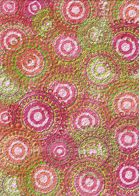 Pink Lime Circle Pattern Scrapbook Paper by Lovinglf - Used the 6th circle pattern designed by Viscious-Speed to create a print that can be used for card making or scrapbooking. Save as a PDF file for the best printing option.