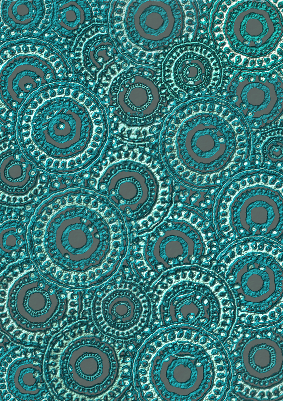Teal Circle Pattern Scrapbook Paper by Lovinglf - Used the 6th circle pattern designed by Viscious-Speed to create a print that can be used for card making or scrapbooking. Save as a PDF file for the best printing option.