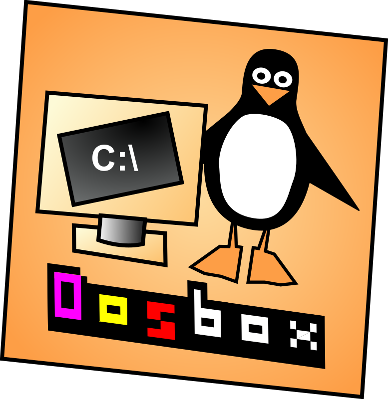 DosBox Icon by bocke - Icon I made for DosBox DOS emulator. It was made with SodiPodi. (revised: 22.07.2008. Converted font to paths.)