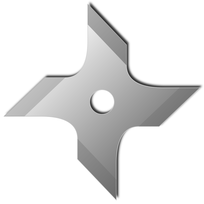 Shuriken by daPhyre - Four peaks shuriken (ninja star).