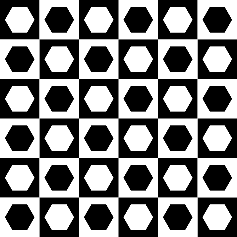 hexagons in chessboard by 10binary
