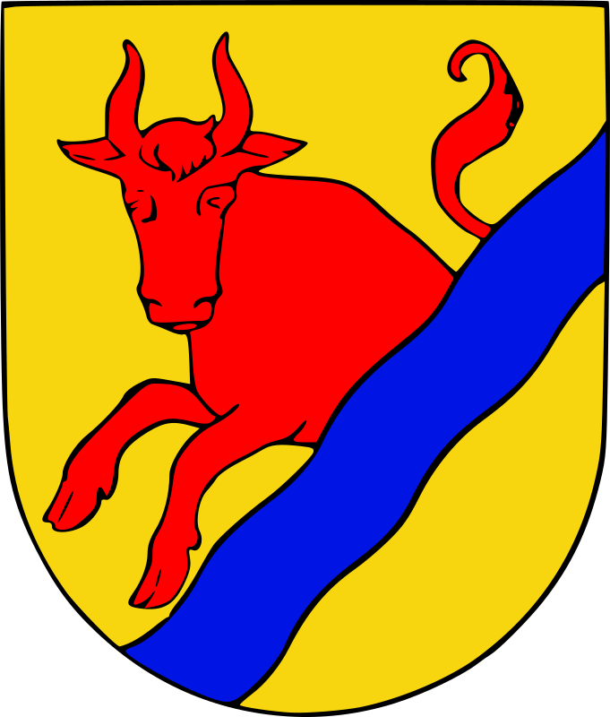 Mariestad coat of arms by liftarn - Based on an image from Nordisk familjebok. Then vectorised and coloured.