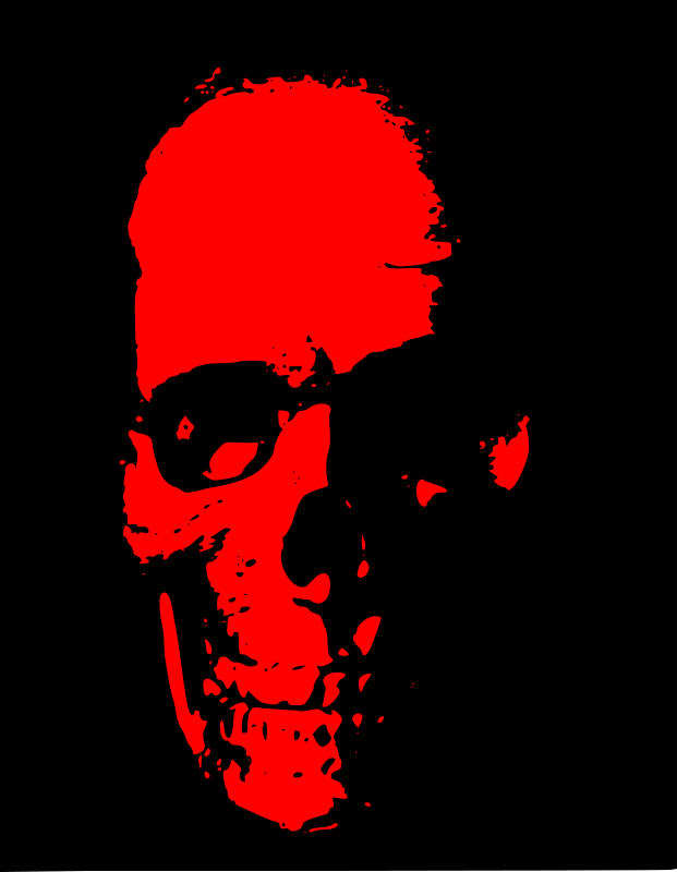 Red Skull by J_Alves - A red version of my vectorized skull picture. Made in Inkscape.