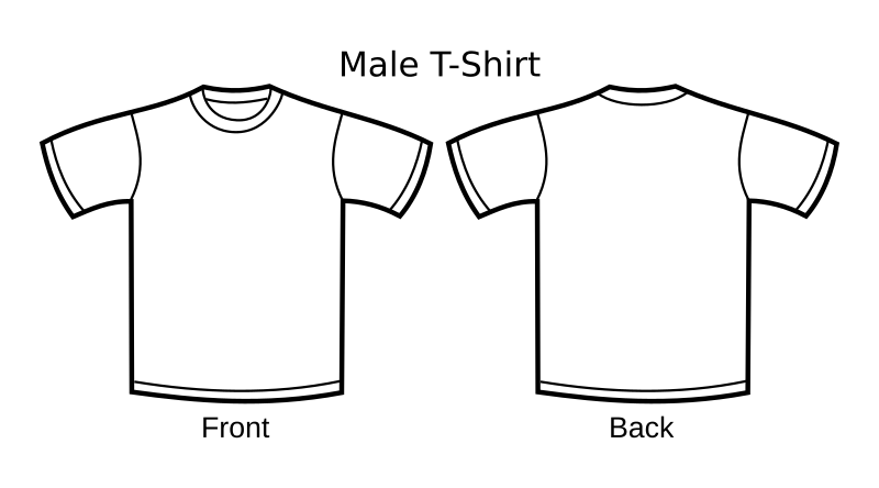 TShirt Template by nicubunu - A white t-shirt template, including front and back