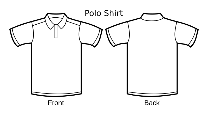 Polo Shirt Template by nicubunu - A white polo shirt template, including front and back