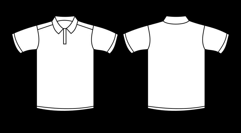 Polo Shirt Template by nicubunu - A white polo shirt template ...