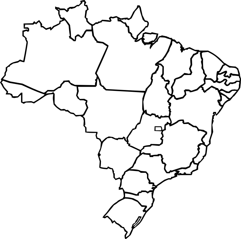 Map of Brazil by J_Alves