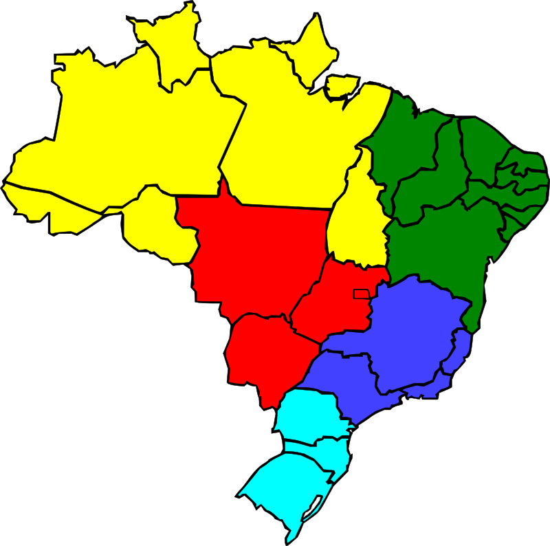Colored map of Brazil by J_Alves