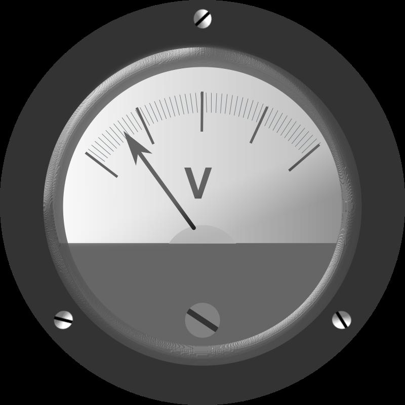 Clipart - Bakelite Voltmeter