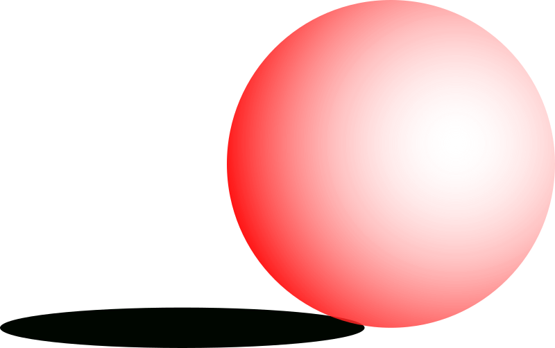 ball by Angelo_Gemmi - A red shaded ball with a shadow.