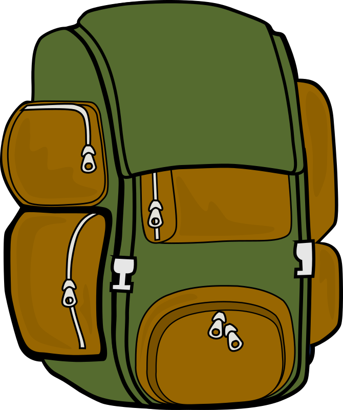 Backpack (Green/Brown) by markc09 - I tried to give the backpack a more natural look by using brown and green