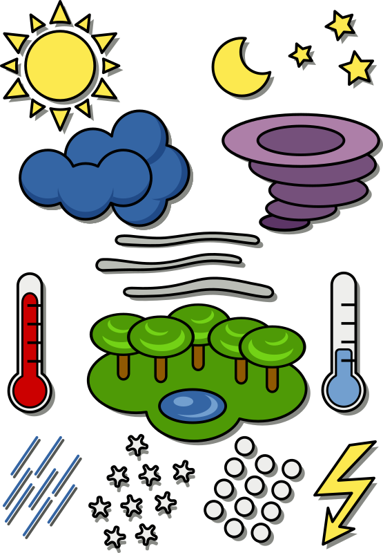 Weather chart symbols by onyxbits