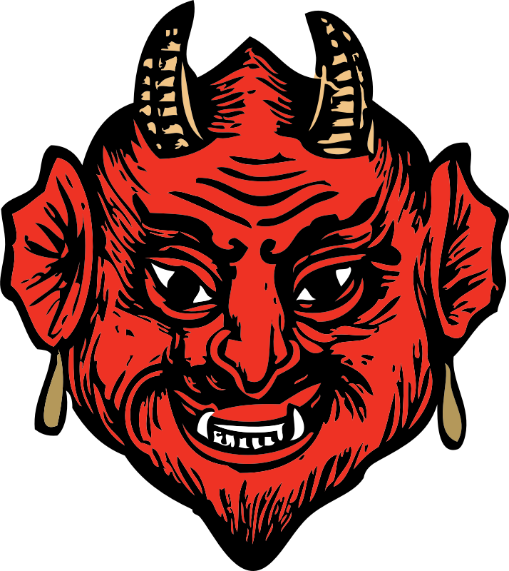 "devil head by johnny_automatic - a devil head from ""Scan This Book"""