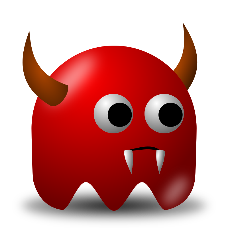 Game baddie: Devil by nicubunu - Bad guy for arcade games, inspired from the classic Pac-Man: a devil