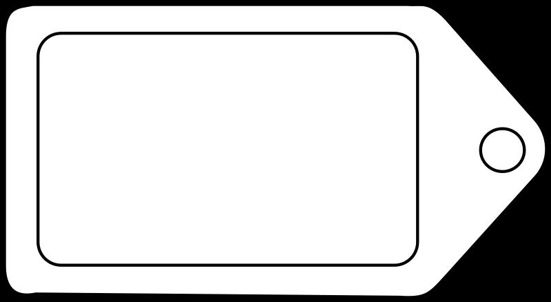 Clipart - Etiquette tag icon label