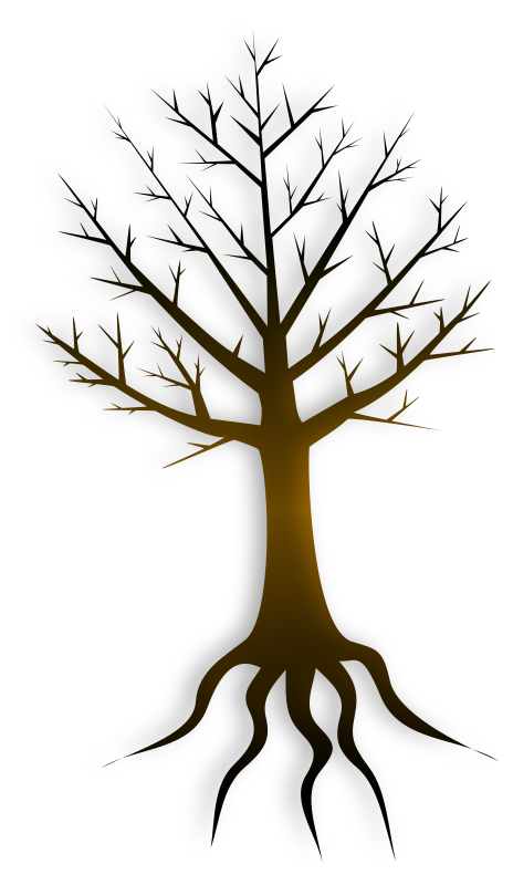 Tree Trunk by Merlin2525 - Just the Tree Trunk with no leaves. Drawn with Inkscape.