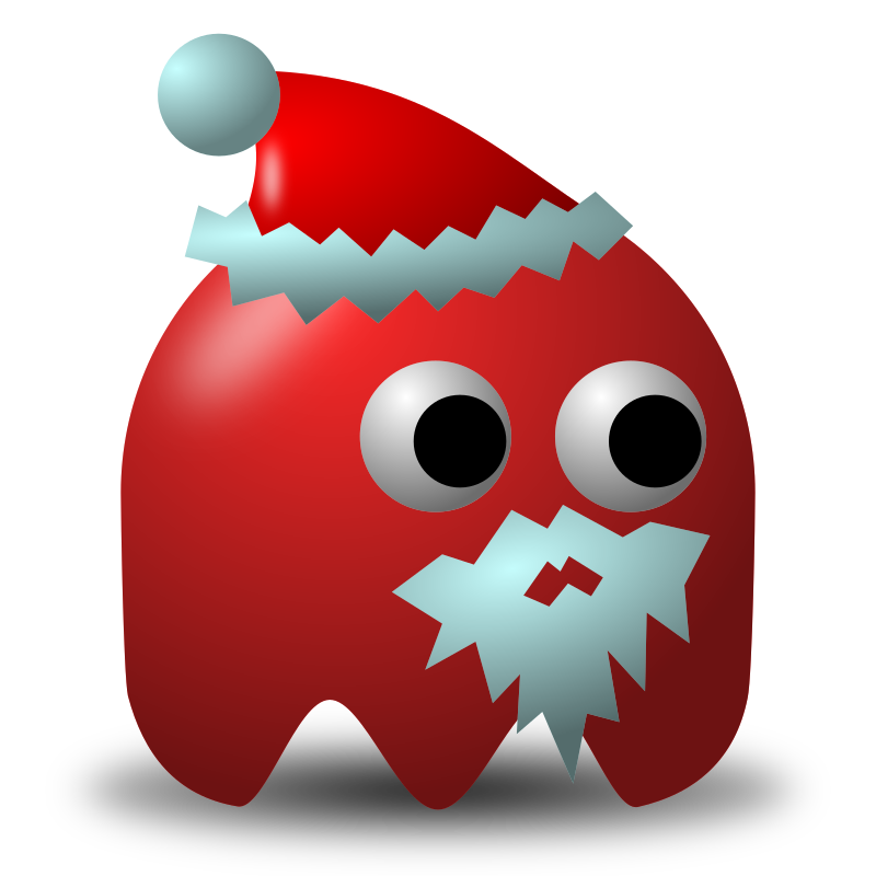 Game baddie: Santa by nicubunu - Bad guy for arcade games, inspired from the classic Pac-Man: Santa Claus