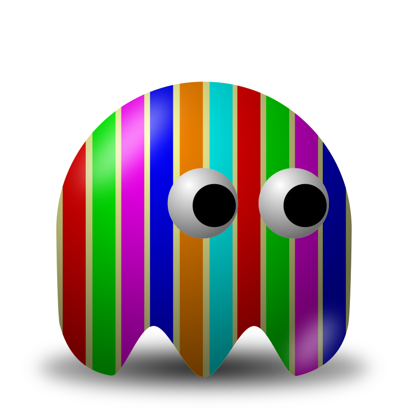 Game baddie: Stripey by nicubunu - Bad guy for arcade games, inspired from the classic Pac-Man: stripes texture