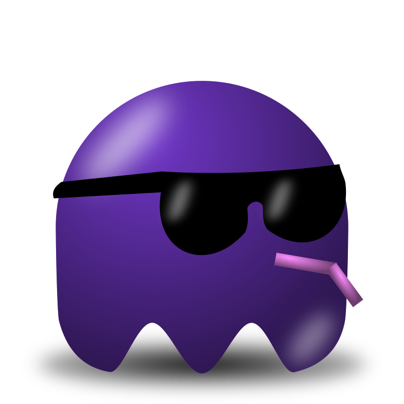 Game baddie: Sunglasser by nicubunu - Bad guy for arcade games, inspired from the classic Pac-Man: a cool sunglass wearer