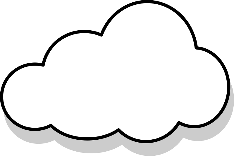 Line Art Clouds : Clipart nuage cloud