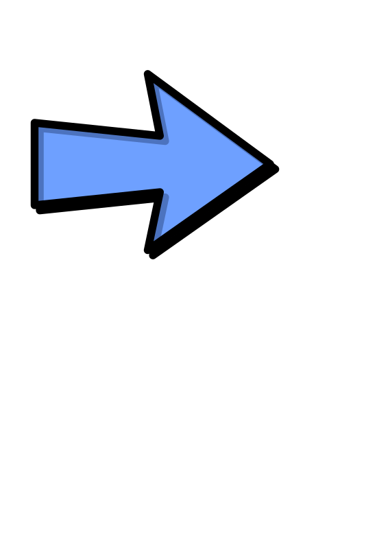 arrow next by Anonymous - A blue arrow pointing to the right.
