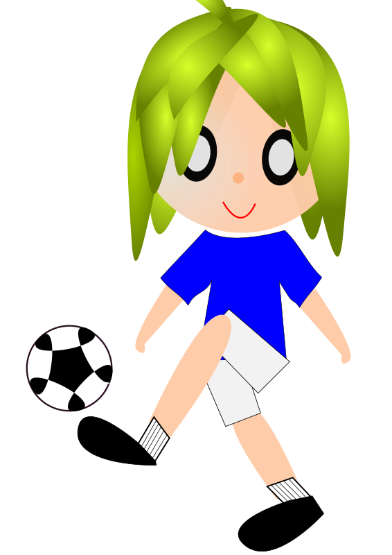 18 by wuhon - Cartoon soccer player.