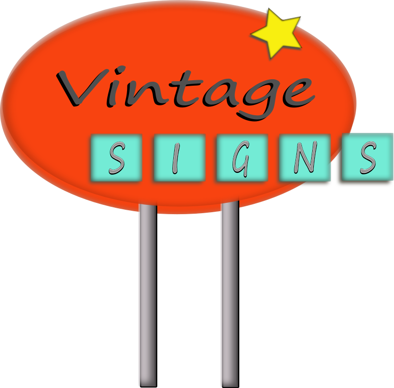 Vintage Sign by laurianne - Here is a vintage sign inspired by Arizona's route 66 motels.