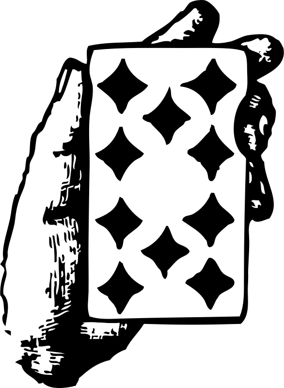 "hand with ten of diamonds by johnny_automatic - a hand holding the ten of diamonds playing card from ""Scan This Book"""