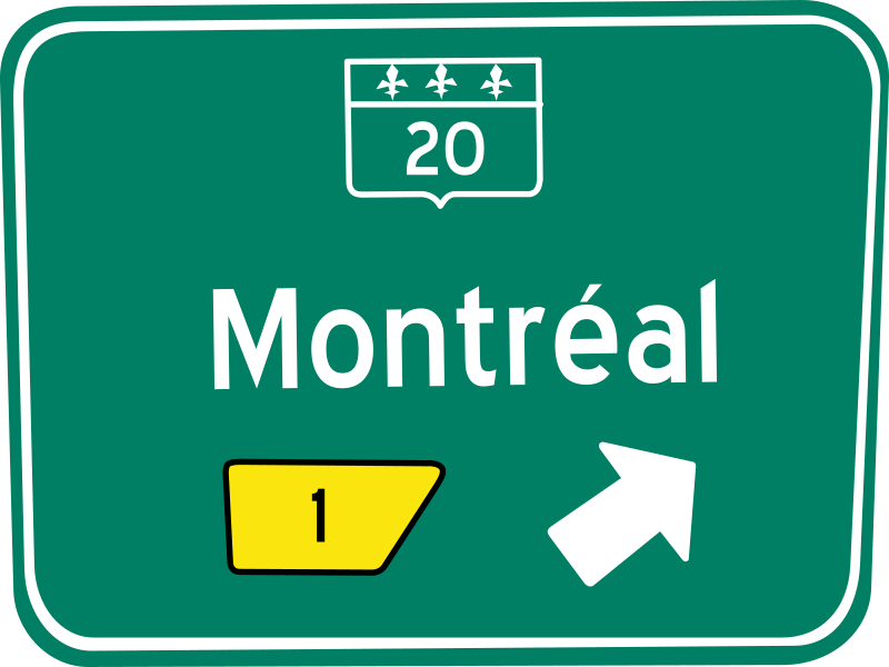 Panneau sortie / traffic sign exit by lmproulx - Panneau sortie / traffic sign exit.