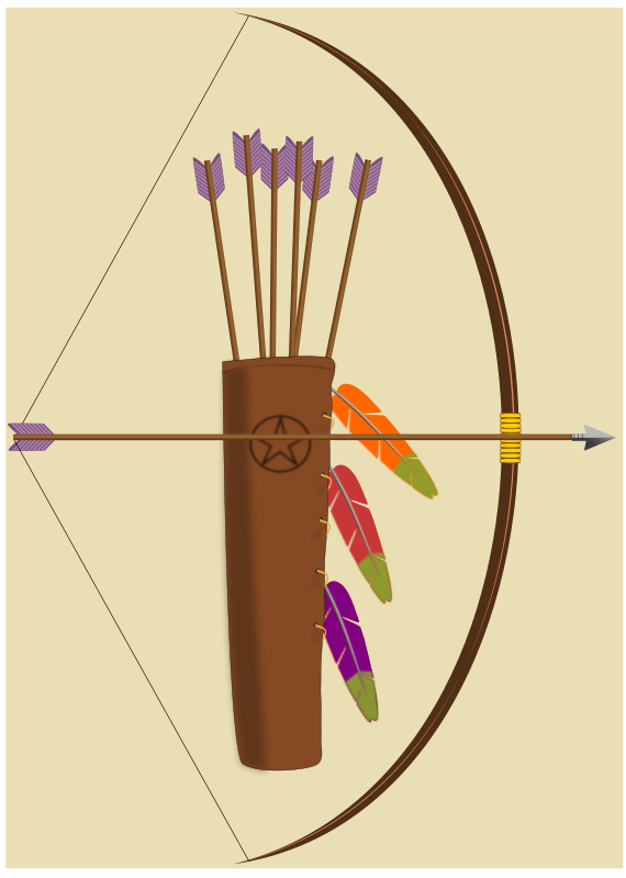 bow, arrow and quiver by pauthonic