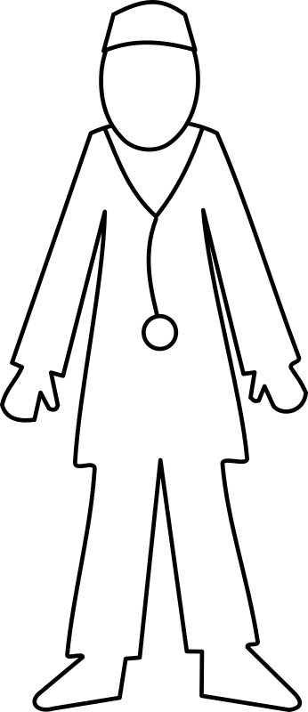 Docteur / doctor by lmproulx - A line art of a doctor