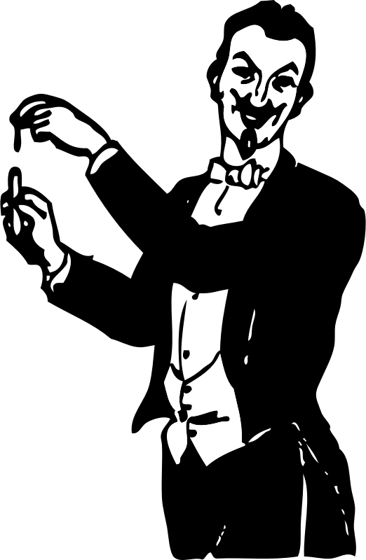 Clipart - magician doing a trick