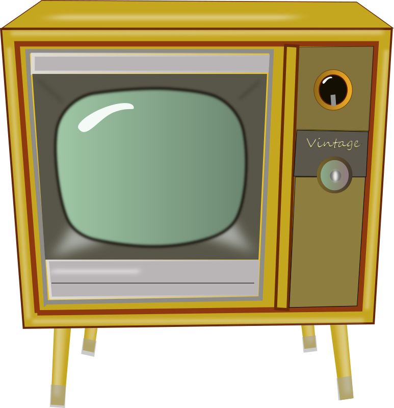 Vintage TV by laurianne - Here is a picture of a vintage console TV.