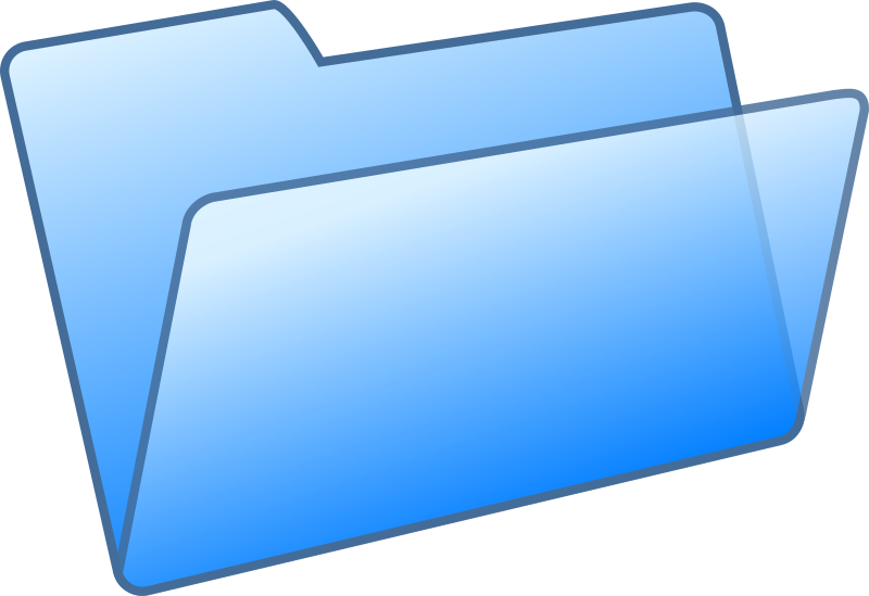 blue folder by Anonymous - A blue folder icon.